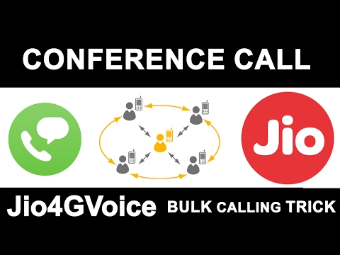 Reliance JIO FREE Conference Calling | How to Merge Multiple Calls in Jio4GVoice APP