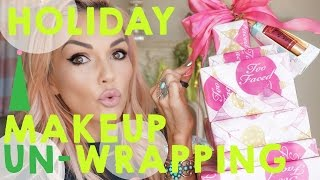 Christmas In September Makeup Unboxing I Mean Unwrapping!