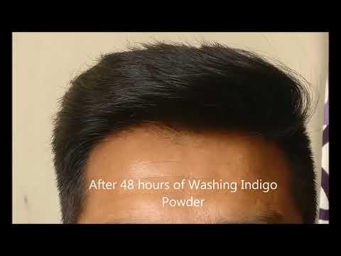 Hennaveda Henna and Indigo Powder -Hair Color after application