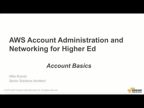 AWS Account Basics for Education