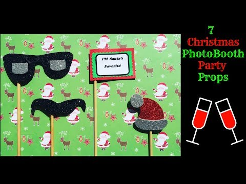 DIY Christmas Photobooth Props | How To Make Party Props At Home