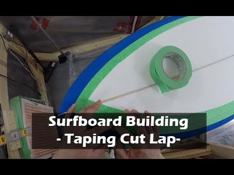 Taping Surfboard for Cut Lap, Mixing Epoxy, Glassing Prep Work: How to Build a Surfboard #24