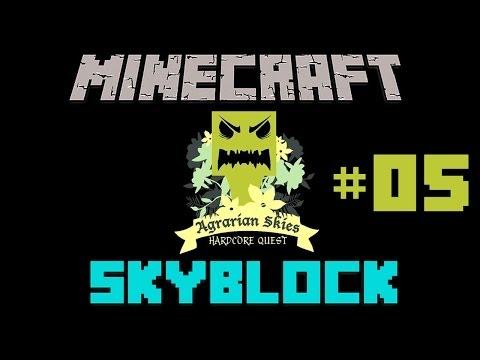 Minecraft: Agrarian Skies #05 - Pierwsze zbiory i basenik!