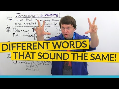 Intermediate English Homophones – different words that sound the same!