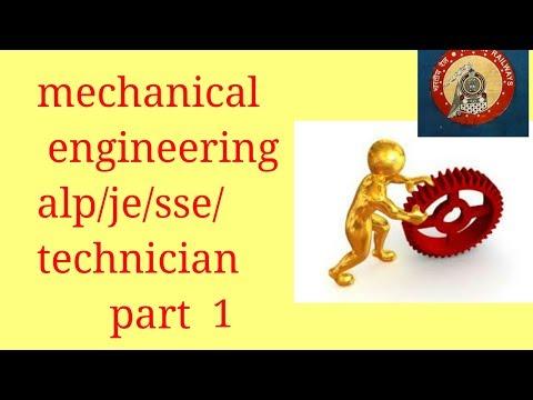 mechanical engineering 1 indian railway syllabus/question alp/je/sse/technician