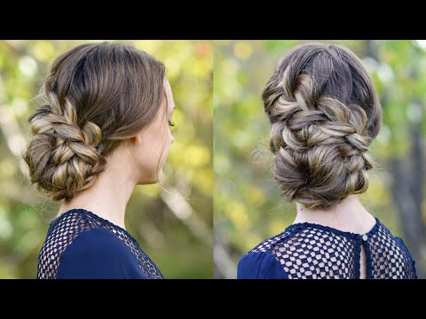 French Braid Updo   Homecoming Hairstyle   Cute Girls Hairstyles