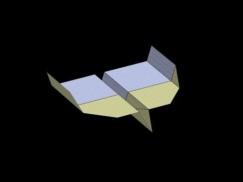 Albatross Paper Airplane: 3D Folding