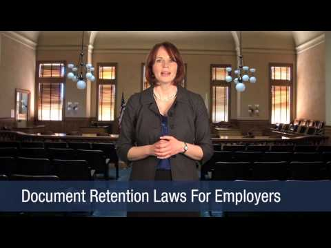 Document Retention Laws For Employers