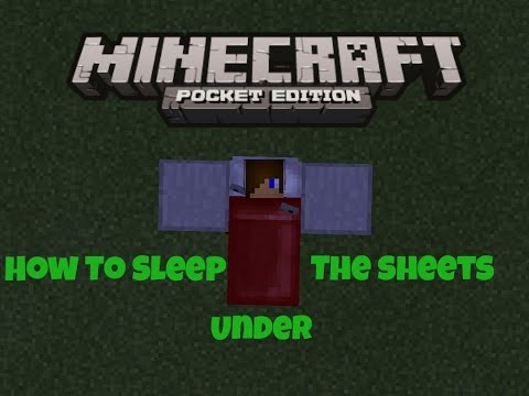 How to sleep in the sheets of the bed in MCPE || How To #18