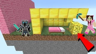 Minecraft: BEDWARS GIANT WALL CHALLENGE!!