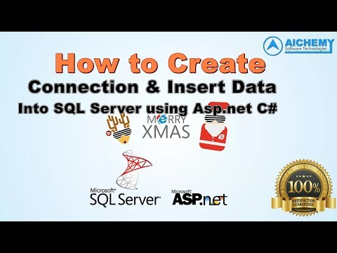How to Connect Sql server database and insert data into table in asp.net