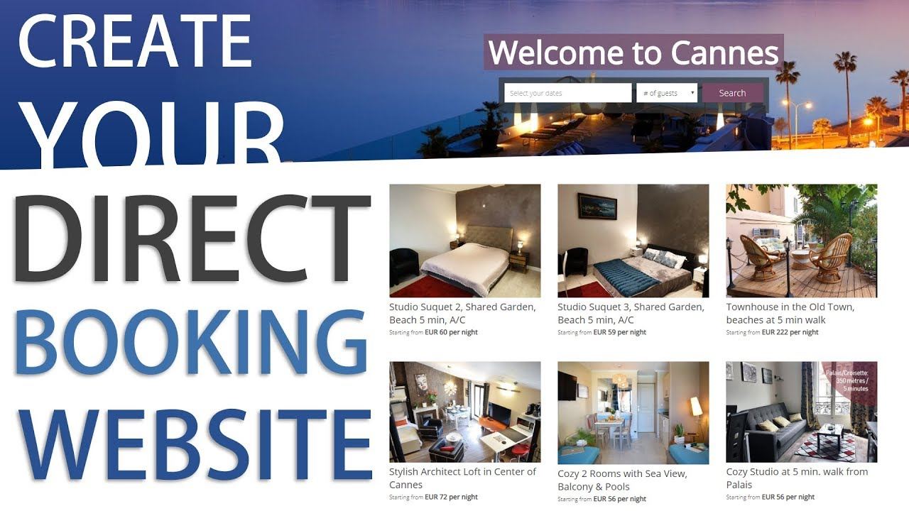How to create a Direct Booking Website for your Short Term Rental in minutes