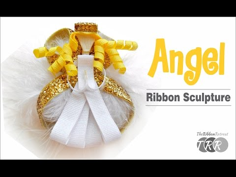 How to Make an Angel Ribbon Sculpture  - TheRibbonRetreat.com