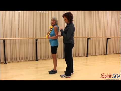 Arm exercise with exercise band