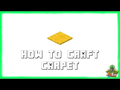 Minecraft 1.12.2: How to Make CARPET! Recipe Tutorial for Minecraft Minecraft 1.12.2 | 2018