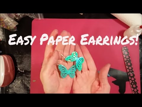 Tutorial: How to Make Paper Earrings! Plus Some Surprises!