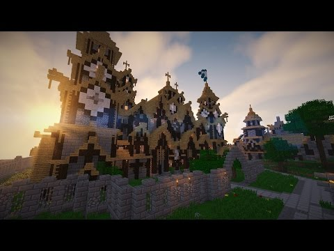 Minecraft: Huge Medieval Cathedral! (tour of the best build i've made)