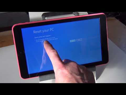 FACTORY RESET EMATIC EWT932PN WINDOWS TABLET w/o the PASSWORD