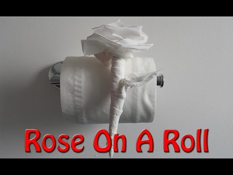 Origami Rose With Toilet Paper MADE EASY...