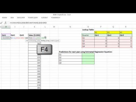 Basic Excel Business Analytics #56: Forecasting with Linear Regression: Trend & Seasonal Pattern