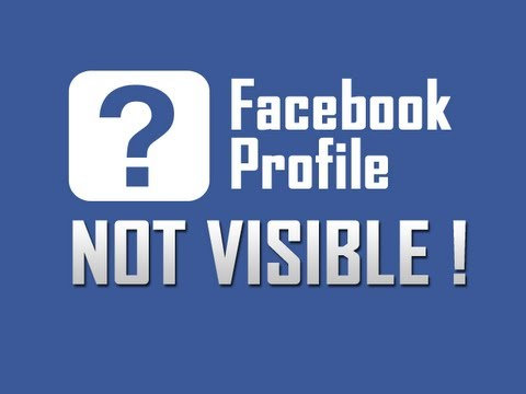 Facebook Profile not visible to other users
