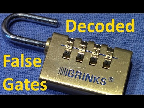(picking 444) Decoded: BRINKS 4 wheel combination padlock / false gates (quickly, no tools)