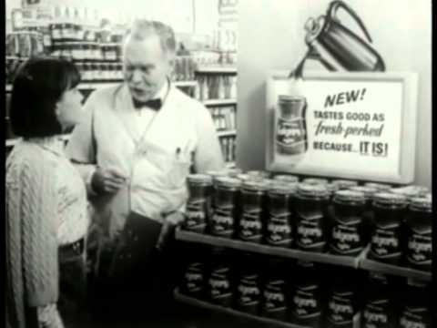 Vintage Folgers Instant Coffee Commercial