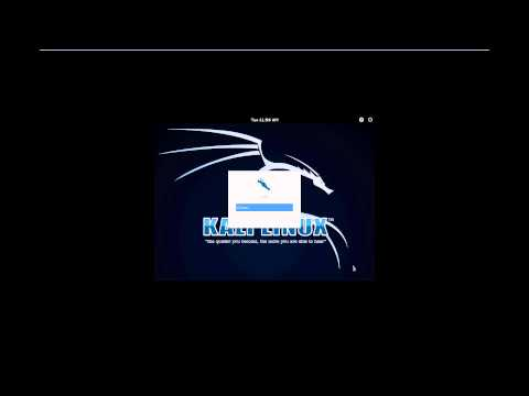 kali linux default username and password
