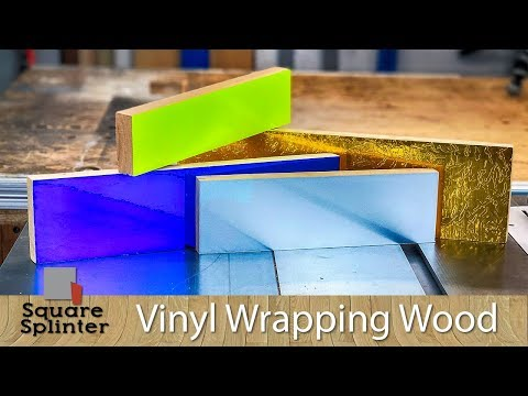 Vinyl wrap your Wood | Tips and Tricks