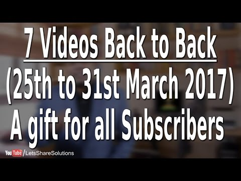I am back | With a gift for all Subscribers