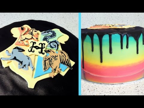 Harry Potter Hogwarts House Reveal Cake | CupcakeGirl