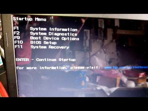 Como entrar na Bios Setup do notebook Pavilion g4 da HP.