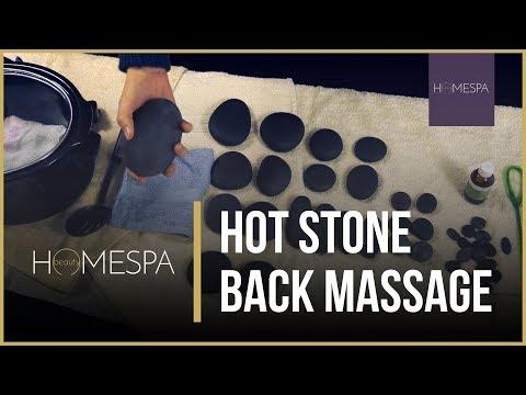 Hot Stone Back Massage Techniques [Unintentional ASMR] - Massage Demonstration and Tutorial