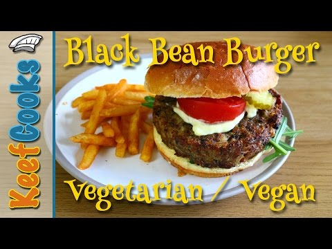 Spicy Black Bean Veggie Vegan Burger