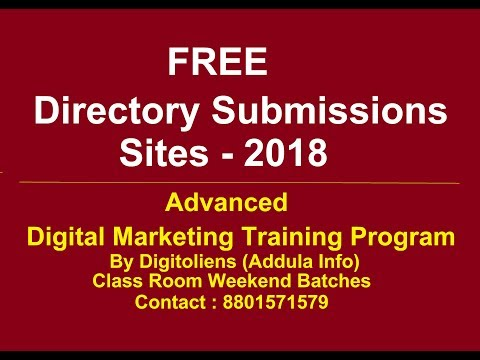 Free Directory submissions List in SEO | Digitoliens (Addula Info)