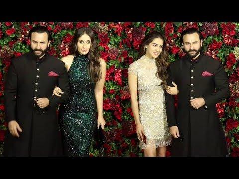 Xxx Mp4 Saif Ali Khan With Wife Kareena Kapoor Amp Daughter Sara Ali Khan At Ranveer Deepika Wedding Reception 3gp Sex