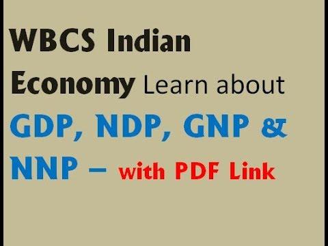 WBCS # GDP, NDP, GNP & NNP