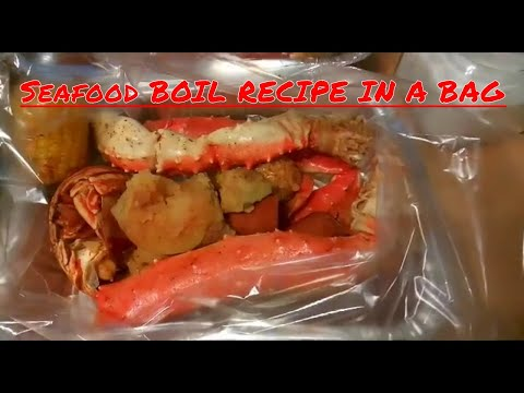 How I made my Seafood Boil in a BAG (TIGER SHRIMP, SAUSAGE, KING CRAB LEGS, LOBSTER TAILS)