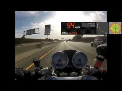 2009 Ducati Sport 1000 Biposto Lane Splitting Bay Area Traffic - GoPro HD Hero 2