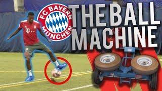 100MPH BALL MACHINE VS FC BAYERN!!!