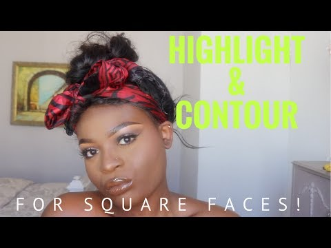 HOW TO: HIGHLIGHT & CONTOUR YOUR SQUARE FACE FOR BEGINNGERS | TINASHÉ IRENE