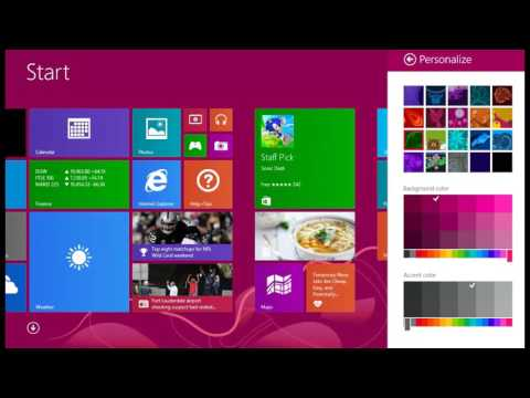 How to change Background color and theme in WINDOWS 8.1
