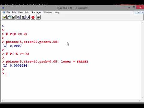 The Binomial Probability Distribution with R