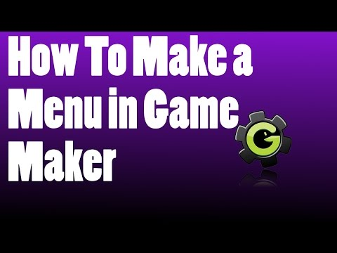 How To Make a Menu in Game Maker Studio