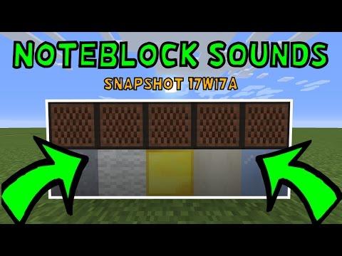 New Noteblock Sounds In Minecraft 1.12! (Snapshot 17w17a)