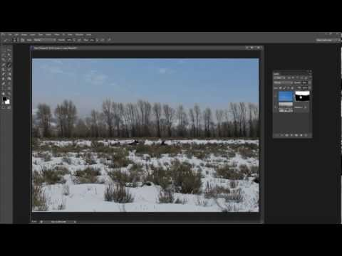 Replace a dull grey sky in Photoshop - make grey skies blue again