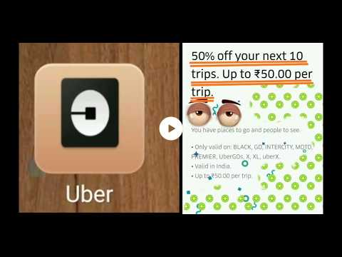 Uber Promo code 1 minute मेंं Apply करें and Get 50% off on cab booking