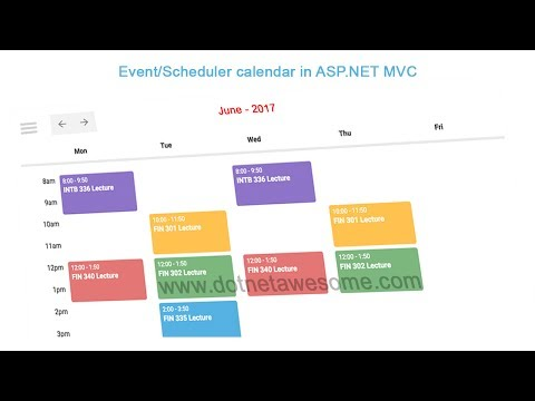 Event/Scheduler calendar in asp.net MVC application