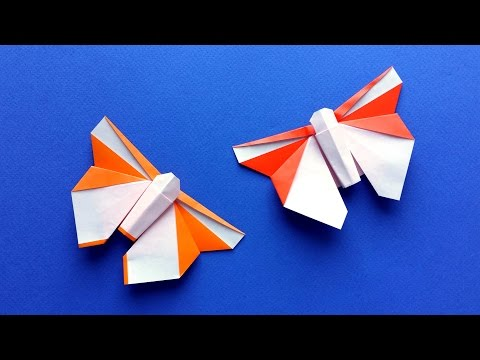 How to Make a Beautiful Origami Butterfly - Easy tutorial (Stéphane Gigandet)