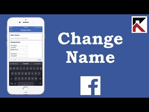 How To Change Your Name On Facebook App 2018